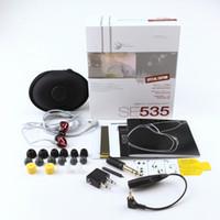 SE535 يدوي سماعات في الأذن سماعات SE535 السلكية سماعات HIFI سماعات الضوضاء الغاء سماعات مع حزمة البيع بالتجزئة LOGO V أفضل