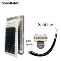 New arrived Nagaraku Ellipse Eyelash Extensions divide tips ...