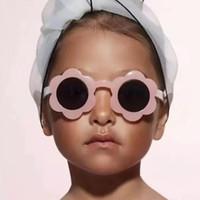 2020 New Sun Flower Round Bambini Cute Bambini Vintage Round Sunglasses Moda Bambini Occhiali da sole per Boy Girls Infant Eyewear UV400