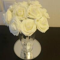 8CM جميلة ساحرة والزهور الصناعية PE رغوة زهور العروس باقة الرئيسية ديكور الزفاف سكرابوكينغ DIY لوازم GB1235