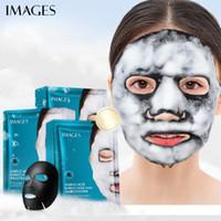 صور الأحماض الأمينية الخيزران الفحم فقاعة قناع المسامات العميقة النظيفة رئيس أسود البثرة العلاج الأسود قناع الوجه العناية بالبشرة