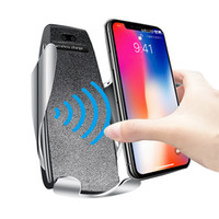 Şarj iPhone Xs Max Xr Samsung S10 S9 Akıllı Kızılötesi Wirless için Qi Hızlı telefon Kablosuz Şarj Otomatik Sensör Telefon Tutucu