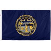 Nebraska State Flag Bannières Impression numérique 100% polyester Hanging publicité extérieure Usage Intérieur, livraison gratuite, l'expédition de baisse