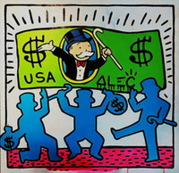 Alec Monopoly Graffiti art Decor Dancing Home Decor Handcraf...