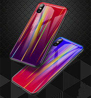 iPhone XS Max Case Aurora gradually changing color Cover Tem...