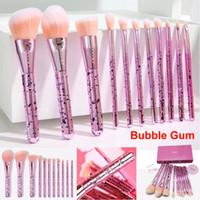 A composição escova Docolor Bubble Gum Kit Escova Set 11 Pcs Fundação Contour Pó Blending Eye Destaque sombra Lips sobrancelha Kabuki Escova