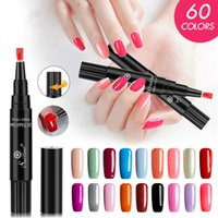 One Step Gel Nail Pen polonais, No de base Couche de finition Besoin, Saviland 3 en 1 Soak Off LED UV vernis gel Nail Art Kit ongles