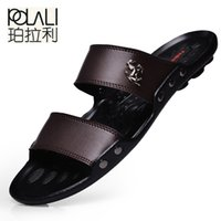POLALI Casual Famous Brand 2018 Men Sandals Shoes Slippers S...