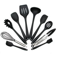10PCS Silicone Non- stick Cooking Utensils Tools Set Heat Res...