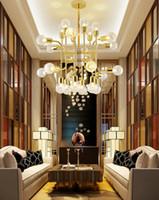 Nordic Persönlichkeit Glaskugel Wohnzimmer Esszimmer Kronleuchter postmoderne einfacher kreativer Modellraum Café Lampen und Laternen