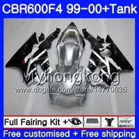 Gehäuse + Tank Für HONDA CBR600 F4 CBR 600 F4 FS CBR600 F 4 287HM.13 CBR600F4 99 00 Silber schwarz heiß CBR600FS CBR 600F4 1999 2000 Verkleidungskit