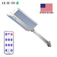 폴 + 미국 주식을 장착와 태양 벽 빛 96leds 슈퍼 밝기 1200lm 화이트 방수 IP65 알루미늄 LED 태양 광 가로등