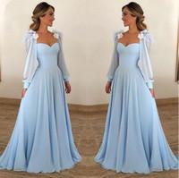 2019 neue A Line Langarm Muslim Elegante Abendkleider Lange Chiffon Kleider Für Besondere Anlässe Party Abendkleider Sweet 16 Kleider