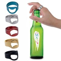 Colorful Stainless Steel Beer Bar Tool Finger Ring Bottle Opener Beer Bottel Favors Kitchen Bar Tools Accessories