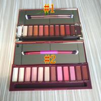 макияж тепла глаз тени Вишневый палитра 12 цветов Матовый Shimmer Тени для век с макияж кисти Bronzers Blush Palette