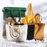 DHL50pcs Mix Farbe Totes Frauen-Kreuz-Entwurf Schwarzes Baumwollsegeltuch DIY Plain vertikales Design Große Kapazität Geöffnet Handtasche