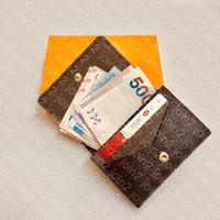 Envuelto Carte de Visite M63801 Moda de diseñador Monedero Monedero Tarjeta de crédito Tarjeta de boleto Tarjeta de boletín de bolsillo de lujo Organizador de bolsillo de lujo Cartera N63338