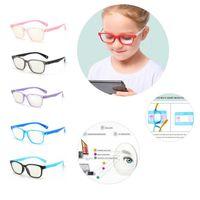 نظارات نظارات نظارات عصرية أطفال الضوء الأزرق المضادة وهج فلتر الأطفال النظارات فتاة بوي الإطار البصري حظر عدسات واضحة