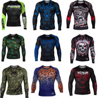 Camiseta deportiva UMA M1 para hombre de MMA - Muay Thai boxing Sweatshirts JUJITSU ABSOLUTE RASHGUARD Venom Nightcrawler Camiseta larga MMA Fighting Green