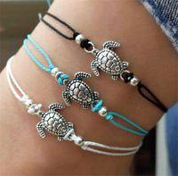 Summer Beach Turtle corda Fascino a forma di stringa Cavigliere per le donne caviglia braccialetto della donna sandali sulla Jewelry Leg catena del piede