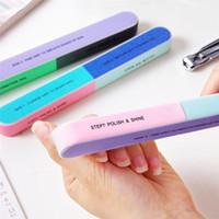NAD017 1шт Шесть стороннего лак для ногтей пилочки искусства Шлифовки дрели для ногтей салона инструмента новой практики пользователя дома длина 18сма