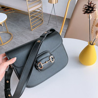 HOT Restoring ancient ways Toothpick grain single shoulder crossbody bags Classic horse bit package large capacity fashion handbags purse
