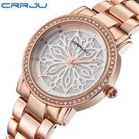 CRRJU Abito di lusso Marca Moda Orologio Donna Donna Oro rosa Diamante relogio feminino Abito Orologio donna relojes mujer 2018 Nuovo