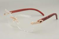 Оптово высокого класса вырезанные 8300817 алмазов серии синий / цвет / ручной резьбой деревянные очки рамы, 58-18-135mm