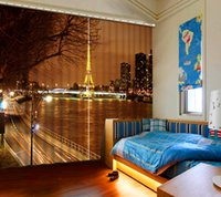 3d Curtains Print City night view Window Blackout Curtains Heat insulation 3D Curtain for Living Room Customizable Size