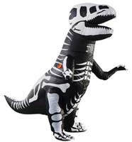 2021 Halloween Inflável Tema Tema Traje Dinossauro Performance Performance Adultos Crianças Engraçadas Roupa de Desenhos Animados para Crianças e Adultos