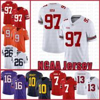 NCAA ولاية أوهايو بوكس 97 نيك بوسا 7 دواين هاسكينز الابن الأمريكي لكرة القدم جيرسي توا Tagovailoa توم برادي