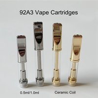 92A3 0. 5ml 1ml Glass Tank Thick Oil Vape Cartridges Vaporize...