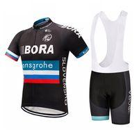 2019 보라 사이클링 저지 Maillot Ciclismo 짧은 소매 및 사이클링 턱받이 반바지 사이클링 키트 스트랩 Bicicletas O19121720