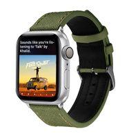Nylon Couro iWatch Esporte Banda substituição alça de pulso 42 milímetros 38 milímetros 40 milímetros 44 milímetros iWatch Series 5/4/3/2/1 para bandas Apple Watch