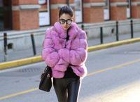 Sahte kürk Kadınlar Moda Lüks Sahte Kürk Vintage Bayanlar Fleece Kalın Coats Sonbahar Kış Sıcak palto artı boyutu Standı