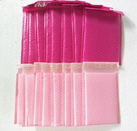 25pcs / lot light rosa / rosa rosa Poly Bubble Mailer Sobres envuelve bolsa de correo acolchada auto sellaje para el paquete de regalo