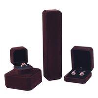 10 컬러 스퀘어 쥬얼리 상자 세트 반지 귀걸이 팔찌 목걸이 쥬얼리 컬렉션 주최자 홀더 결혼 선물 포장 상자 케이스