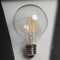 G80 светодиодная нить лампочки света высокая яркость 50000HRS Lifetime E27 E14 B22 6W светодиодная лампочка для украшения в помещении