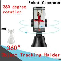 360 Titular de rastreamento de objetos Telefones celulares tripé tripé 360 ° Follow-up inteligente PTZ inteligente pista pessoal gimbal bto link panorâmico robô camerman