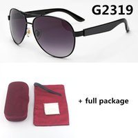 Hommes et femmes 2319 nouvelles lunettes de soleil grand cadre de marque de marque de marque de marque 5 couleurs UV400 Goggle avec étuis