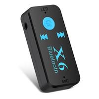 20PCS MSD-C-X6 الجانب شحن مع X6 TF بطاقة سيارة استقبال بلوتوث 3.5 ملليمتر aux المتحدث الصوت محول 5.0 مشغل mp3