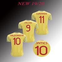 2019 Colombia soccer Jersey Colombia Home yellow Soccer shir...
