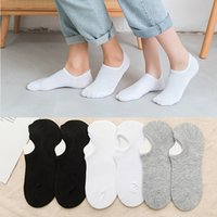 Spring Summer Women Men Couple's Cotton Ankle Sport Short Socks Low Cut Invisible Breathable Solid Color Boat Ankle Socks