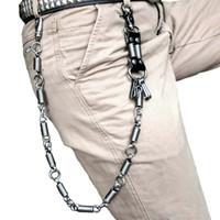 Hip hop Do Punk Dos Homens Primavera Coiled Belt Cintura Chaveiro Masculino Calças Jeans Cadeia Do Punk Calças De Metal Rocha Acessórios de Vestuário Jóias