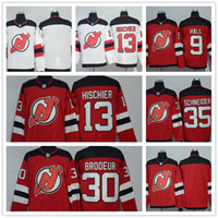 13bd99f53 Mens NHL 2017-18 Temporada New Jersey Devils 35 Schneider 30 Brodeur 13  Hischier 9