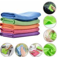 Weiche Mikrofaser-Reiniger-Handtuch absorbierbare Küchenreinigungstuch Tücher Tischfenster Autoschale Pfanne Handtücher Lappen Glas Staub Entfernen Sie Tücher