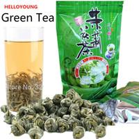 100g kinesisk organisk högkvalitativ jasmine pärla grönt te hälsovård rå te ny vår te grön mat föredragna
