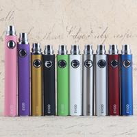 Evod батареи электронной сигареты батареи 510 Vape ручка емкостью 650mah 900ма 1100mah Ego продевая нитку 10 цветов в наличии