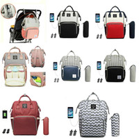 LEQUEEN Maternity Baby Diaper Bag Multifunctional Oxford Bac...