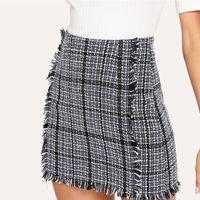 3b039ac75 Compre Ekouaer Sexy Mujer Mini Falda Papel Cosplay Vintage Sólido ...